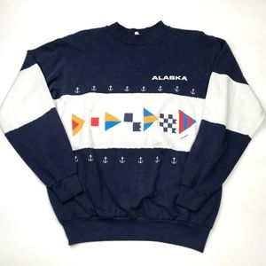 Alaska Western Shirt Line Unisex Sweater Blue L
